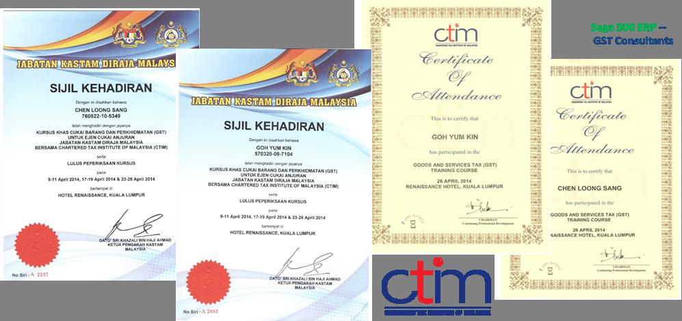 Ctim Certificate