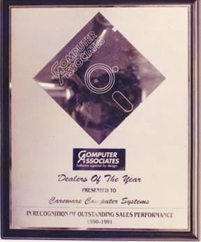 CA-ACCPAC Award Malaysia Top 1 Partner 1990-1991