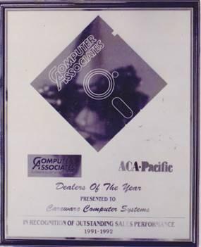 CA-ACCPAC Award Malaysia Top 1 Partner 1991-1992