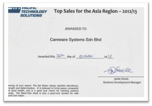 Pacific Tech Workflow Top Sales Asia Region