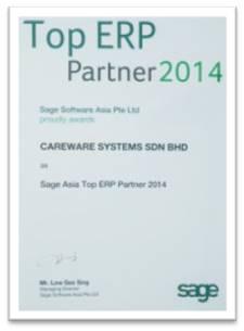Sage Asia No 1 ERP Partner 2014