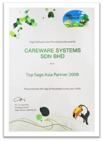 Sage Asia No 1 Partner 2008