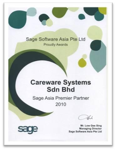 Sage Asia Premier Partner 2010