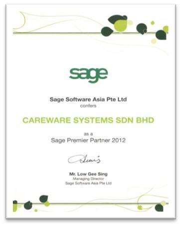 Sage Asia Premier Partner 2012