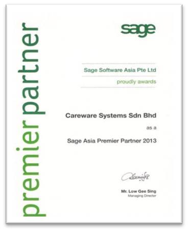 Sage Asia Premier Partner 2013