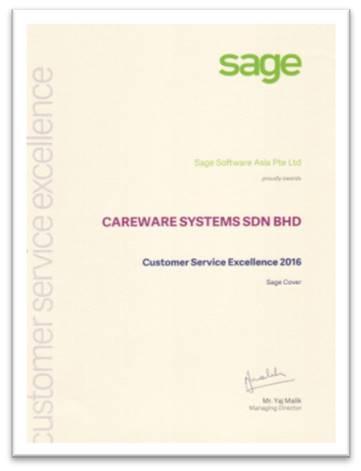 Sage Service Excellence 2016